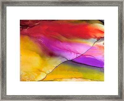 Rainbow Silk Wave Framed Print by Alexis Bonavitacola