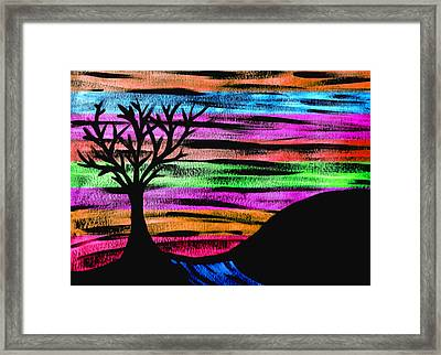 Rainbow Skies Framed Print by Josephine Ring