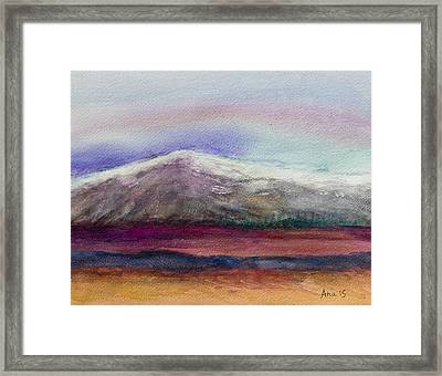 Rainbow Sky In Alaska Framed Print by Anais DelaVega