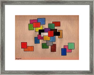 Rainbow Spectrum Framed Print
