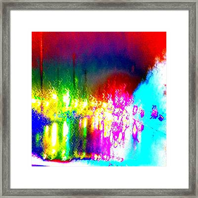 Rainbow Splash Abstract Framed Print