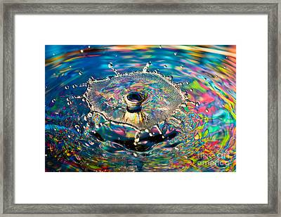 Rainbow Splash Framed Print by Anthony Sacco