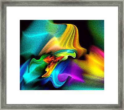 Rainbow Splashes Framed Print by Lea Wiggins