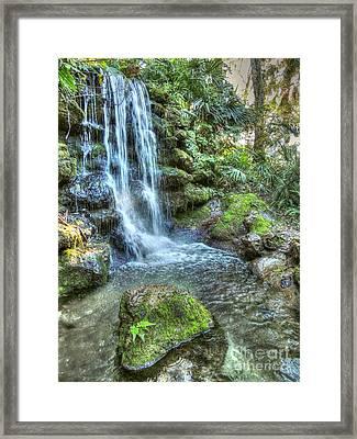 Rainbow Springs Waterfall Framed Print by Myrna Bradshaw