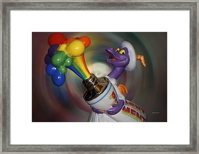 Rainbow Squirt Framed Print