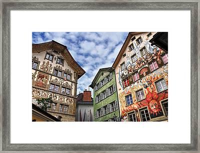 Rainbow Corner  Lucerne Framed Print