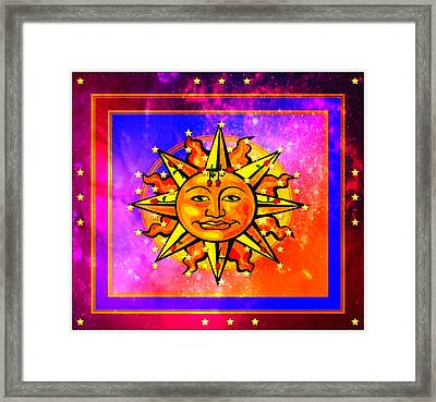 Rainbow Sun Framed Print