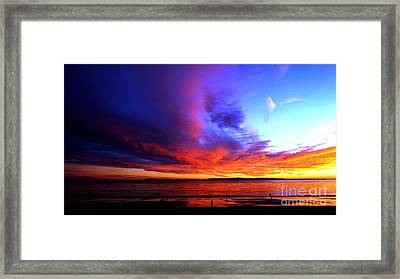 Framed Print featuring the photograph Rainbow Sunset by Sue Halstenberg