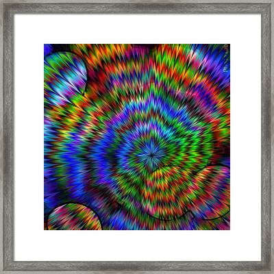 Rainbow Super Nova Framed Print