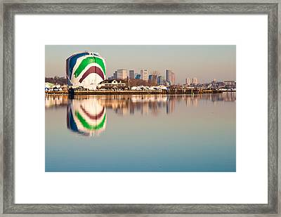 Boston Gas Tank Framed Print by Lee Costa