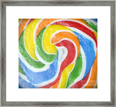 Rainbow Swirl Framed Print by Luke Moore