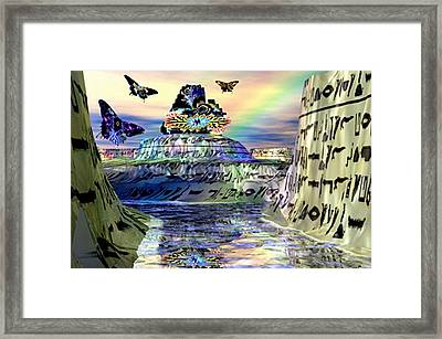 Rainbow Temple Framed Print by Rebecca Phillips