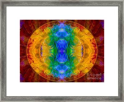 A Rainbow Of Chaos Abstract Mandala Artwork By Omaste Witkowski Framed Print by Omaste Witkowski