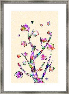 Rainbow Tree Framed Print