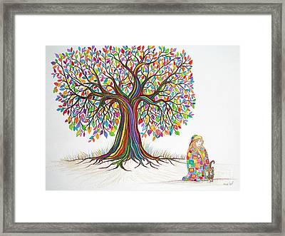 Rainbow Tree Dreams Framed Print by Nick Gustafson