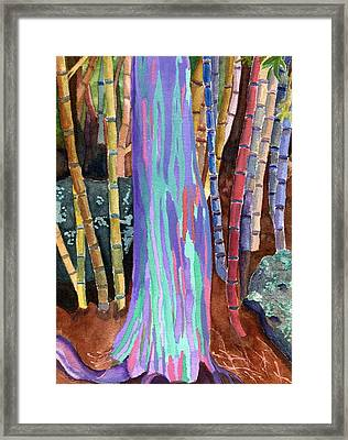Rainbow Tree Framed Print by Lynne Reichhart