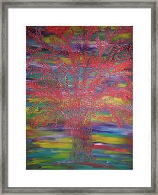 Rainbow Tree Framed Print by Nico Bielow