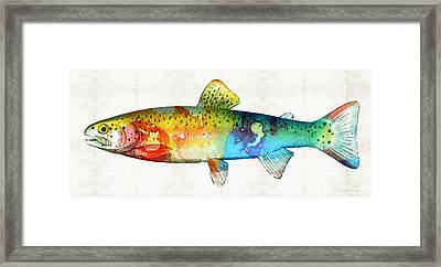 Rainbow Trout Art By Sharon Cummings Framed Print