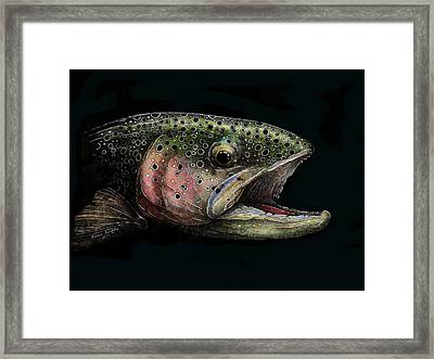 Rainbow Trout Head Shot #1 Framed Print