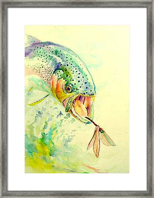 Rainbow Vs Dragon  Framed Print