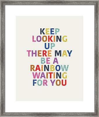 Rainbow Waiting For You IIi Framed Print by Amy Cummings