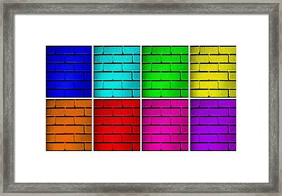 Rainbow Walls Framed Print