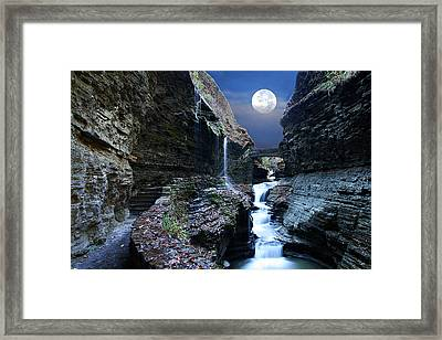 Rainbow Waterfalls Framed Print by David Simons