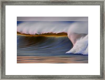 Framed Print featuring the photograph Rainbow Wave  C6j2648 by David Orias