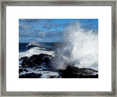 Rainbow Wave Framed Print by Donnie Freeman
