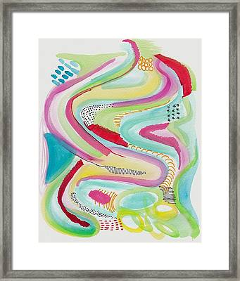 Rainbow Wave Framed Print