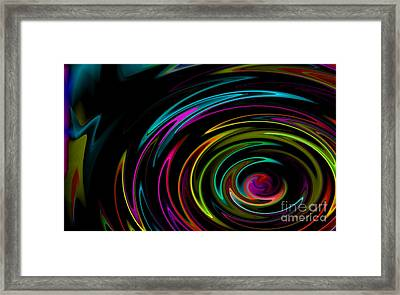 Rainbow Whirlpool Framed Print