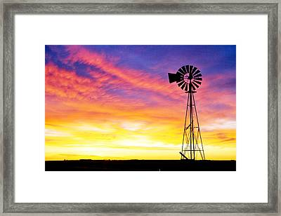 Rainbow Windmill Framed Print by Shirley Heier