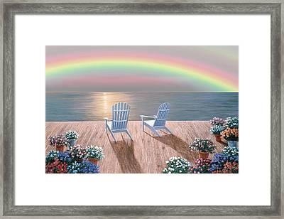 Rainbow Wishes Framed Print