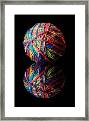 Rainbow Yarn And Reflection Framed Print by Jim Hughes