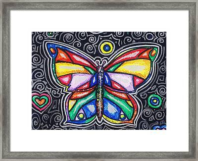 Rainbows And Butterflies Framed Print by Shana Rowe Jackson