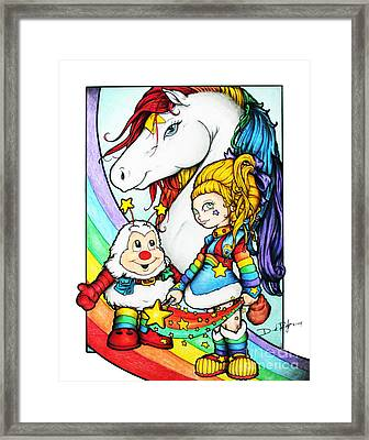 Rainbows Briter Framed Print by Derrick Rathgeber