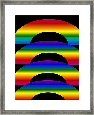 Framed Print featuring the digital art Rainbows by Gayle Price Thomas