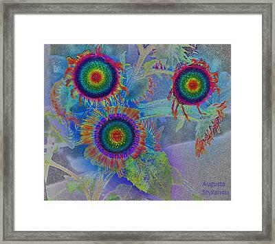 Rainbows In Flowers  Framed Print by Augusta Stylianou