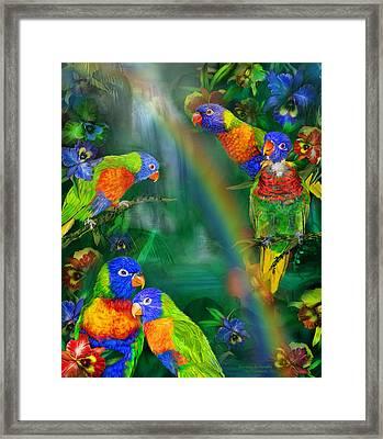 Rainbows In Paradise Framed Print by Carol Cavalaris