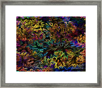 Rainbows In The Forest Framed Print