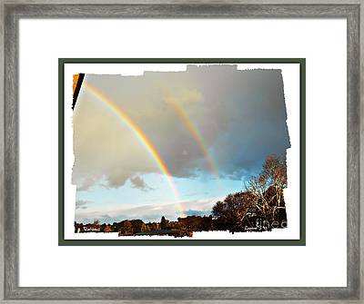 Framed Print featuring the photograph Rainbows by Leanne Seymour