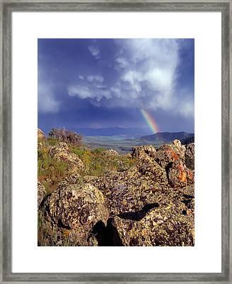Rainbows Framed Print by Leland D Howard