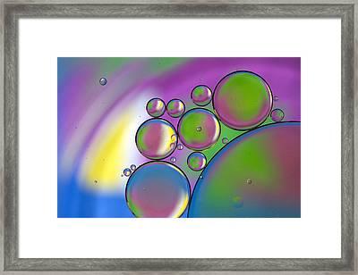 Rainbows Lollipops  Framed Print by Rebecca Cozart