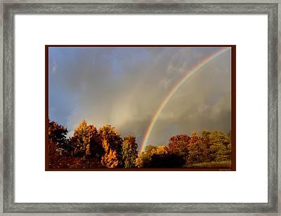 Rainbows Of Autumn Framed Print by Debra     Vatalaro