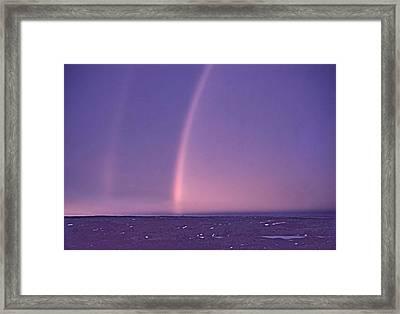 Rainbows Over Hudson Strait 1953 Framed Print