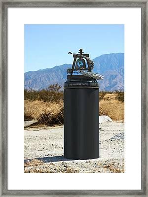 Framed Print featuring the sculpture Raincross Trophy by Dan Redmon