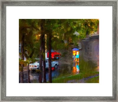 Raindrops At Cuba Framed Print by Juan Carlos Ferro Duque