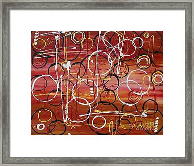 Raindrops Framed Print by Jane Chesnut