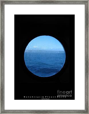 Raindrops On Planet Earth Framed Print