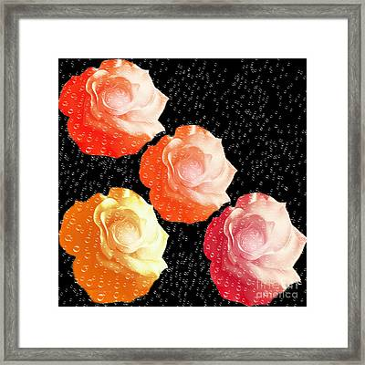 Raindrops On Roses - My Favorite Things Framed Print by Andee Design
